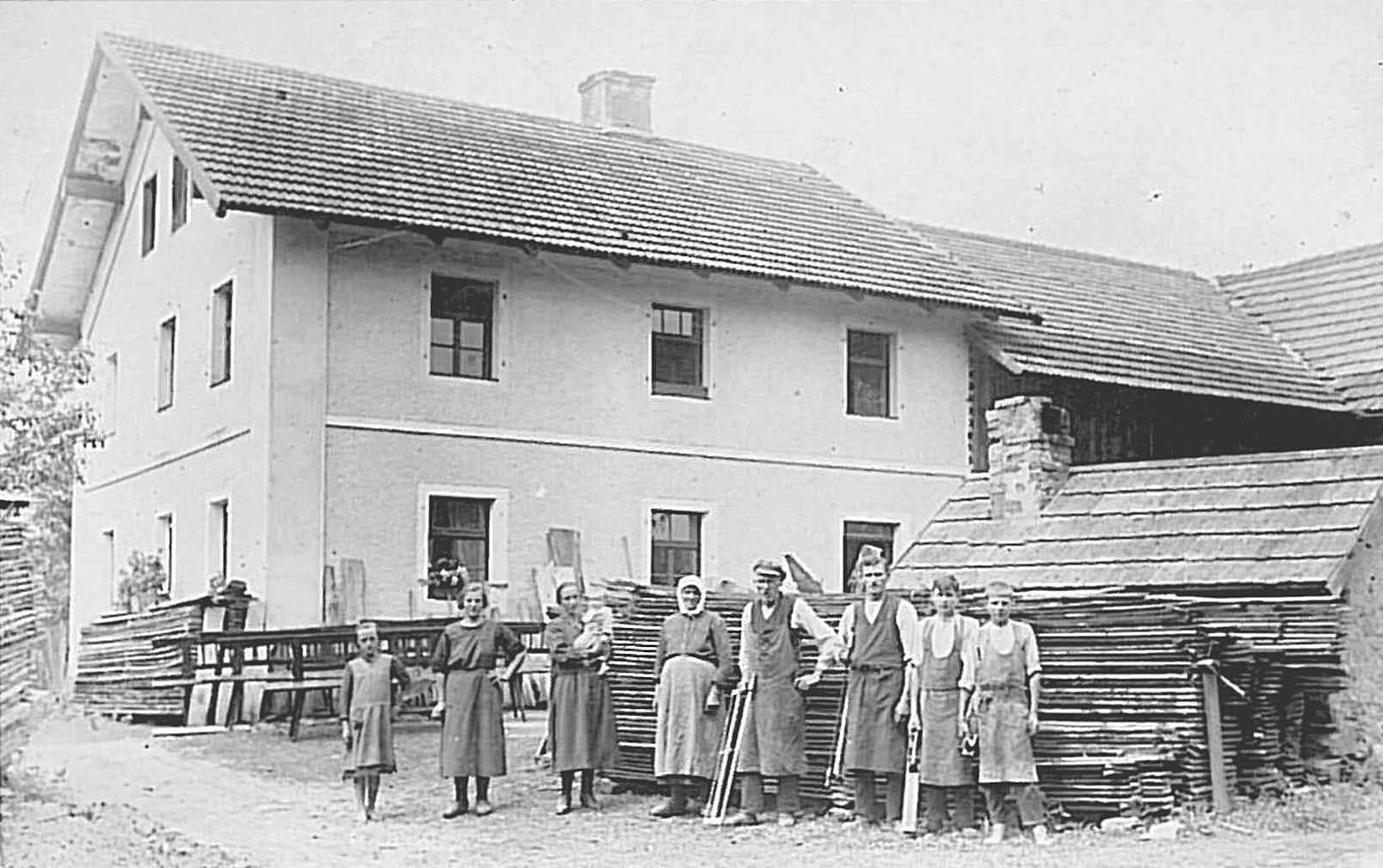Die Schreinerei im Jahr 1928